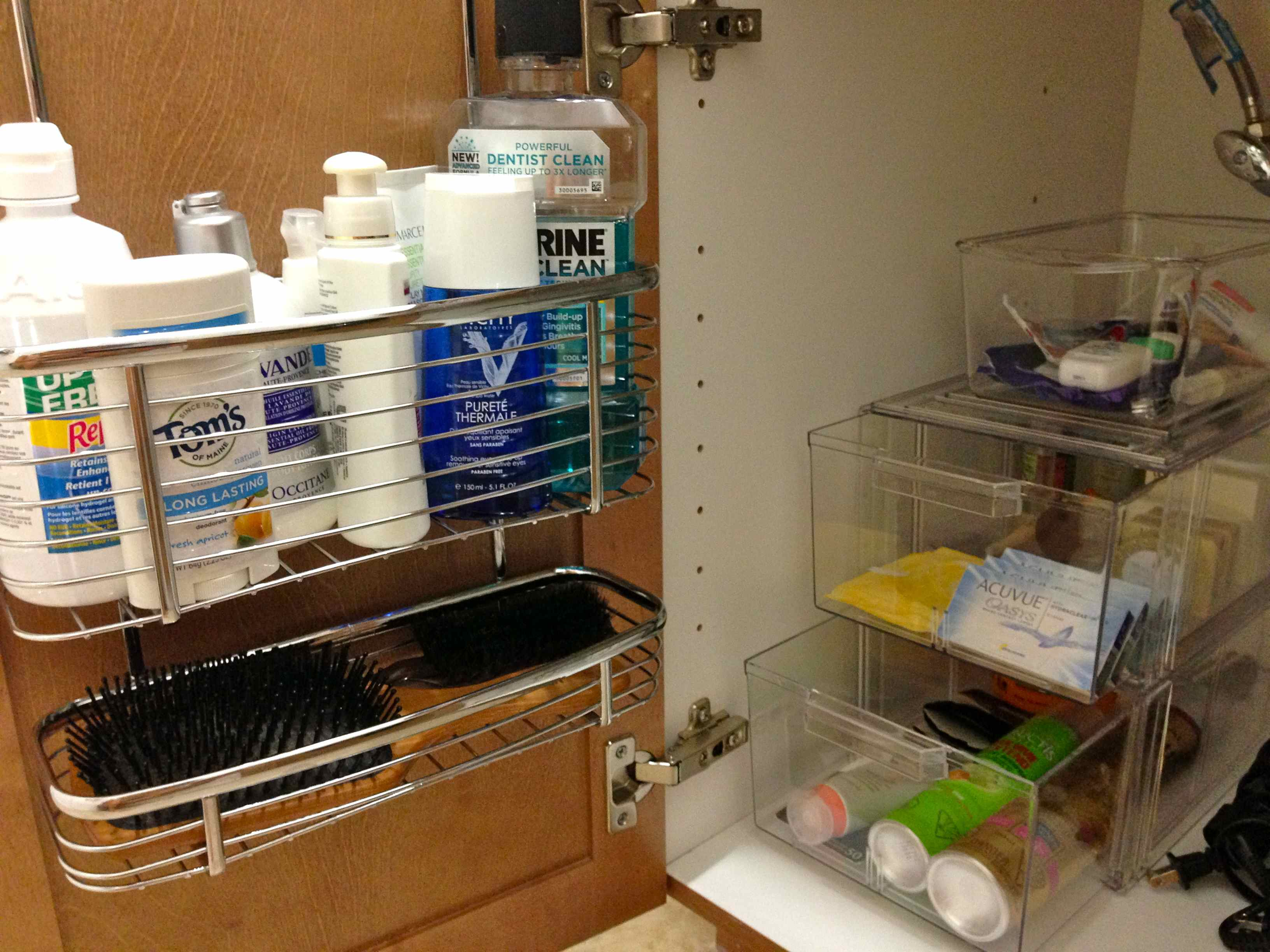 Under Bathroom Sink Organizers Bathroom Cabinet Storage. Creative Under  Sink Storage Ideas Hative