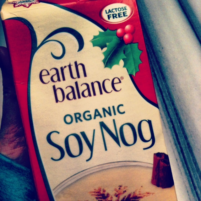Drinking lots of Soy Nog