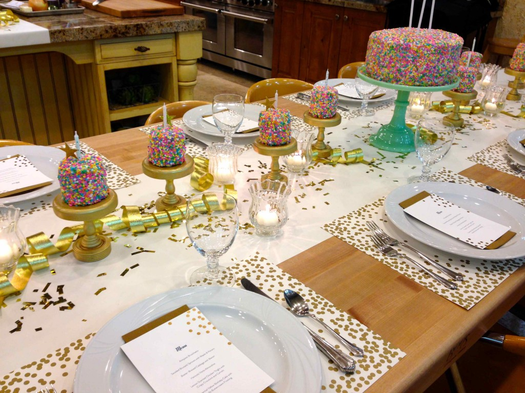 Birthday Party Rainbow Sprinkles Table Setting