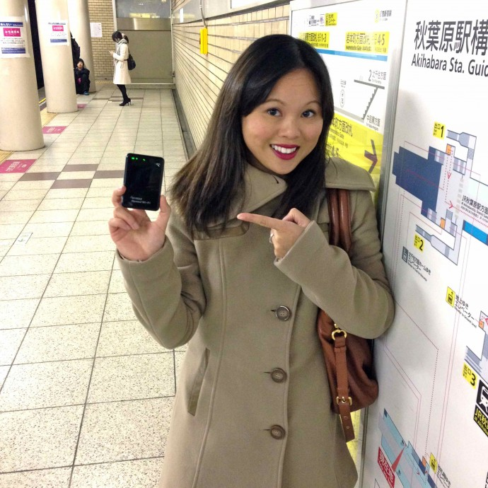 Using it on the subway in Tokyo
