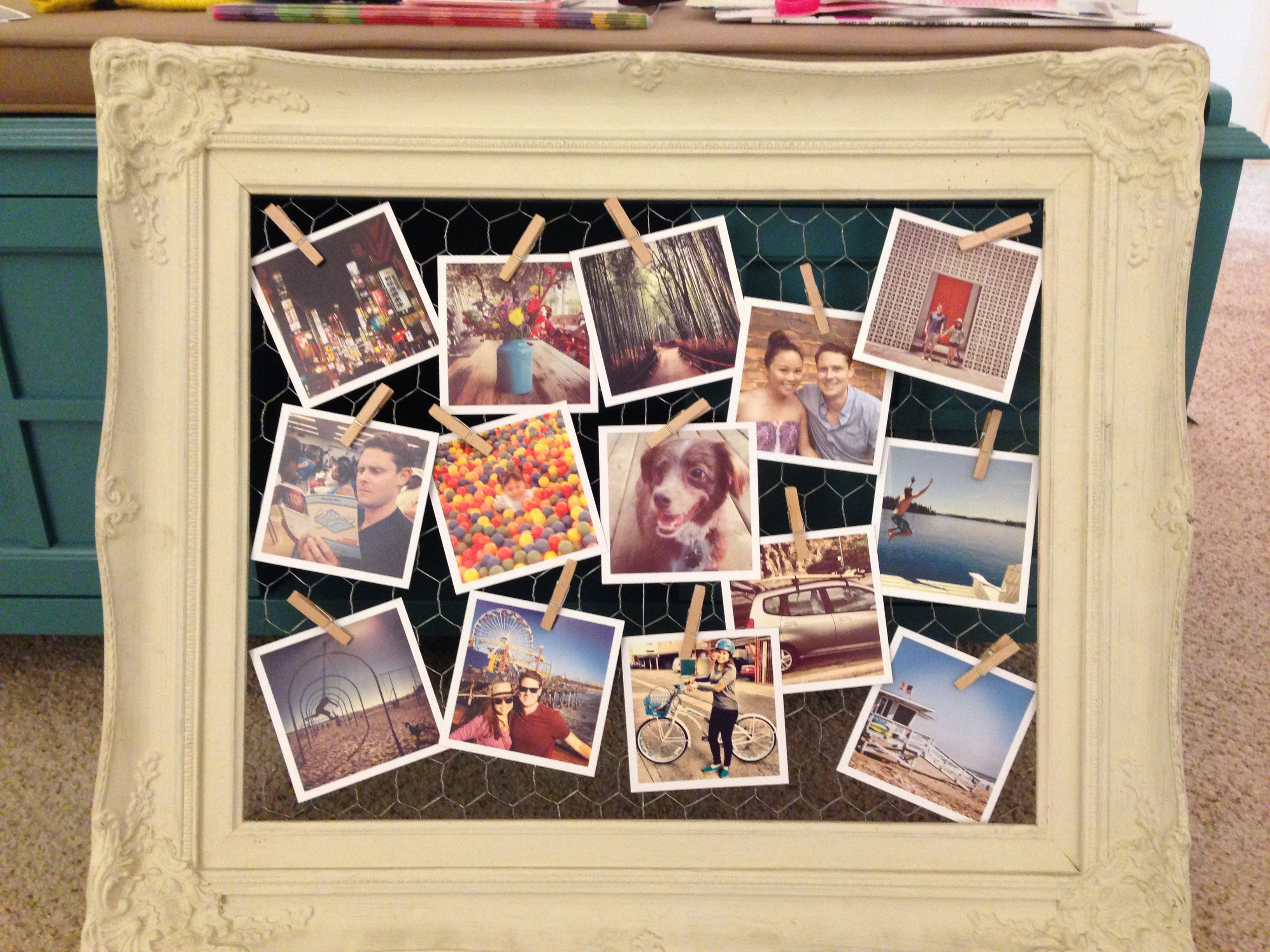 DIY Chicken Coop Picture Frame -This Beautiful Day