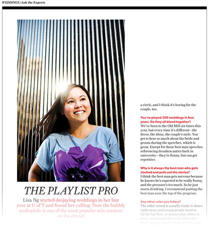 An article about me back in my DJ days in Toronto Life.