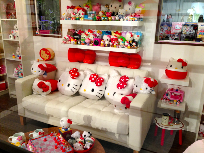hello kitty apartment living room