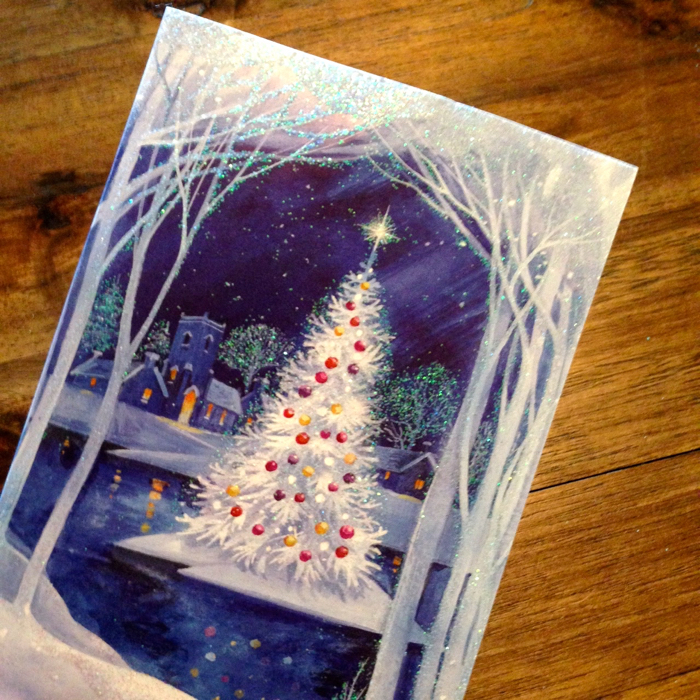 Diy upcycle your christmas cards this beautiful day i also try to reuse as many gift bags and bows as possible to create less waste and to save myself the hassle and money from having to re buy gift wrap all solutioingenieria Images
