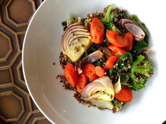 quinoa bowl roasted vegetables easy weeknight meals