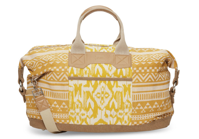 Saffron-Ikat-Duffel-Traveler-TOMS-mother's-day-gift-ideas