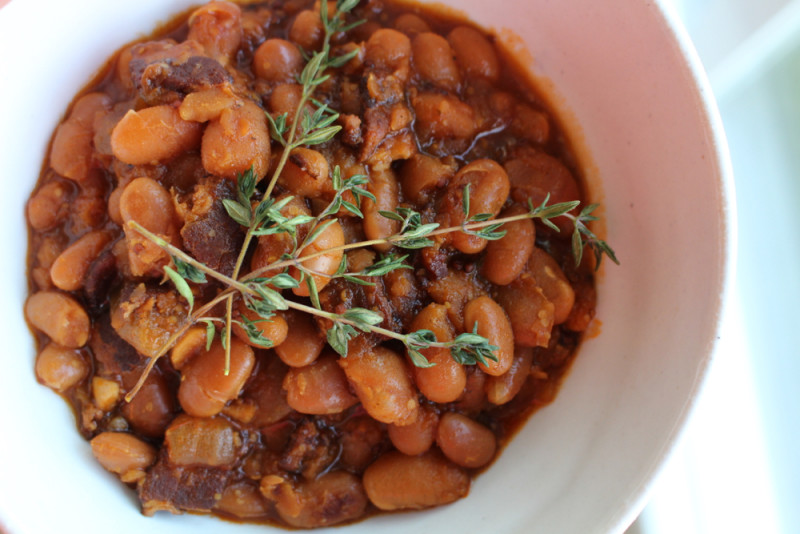 Slow-cooker-baked-beans