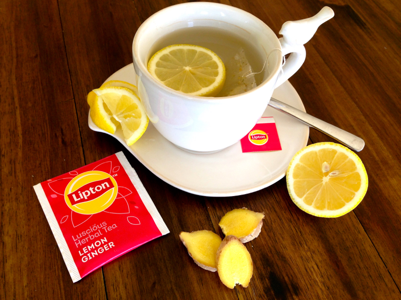 afternoon tea lipton lemon ginger