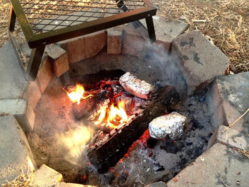 baked potatoes campfire meal ideas