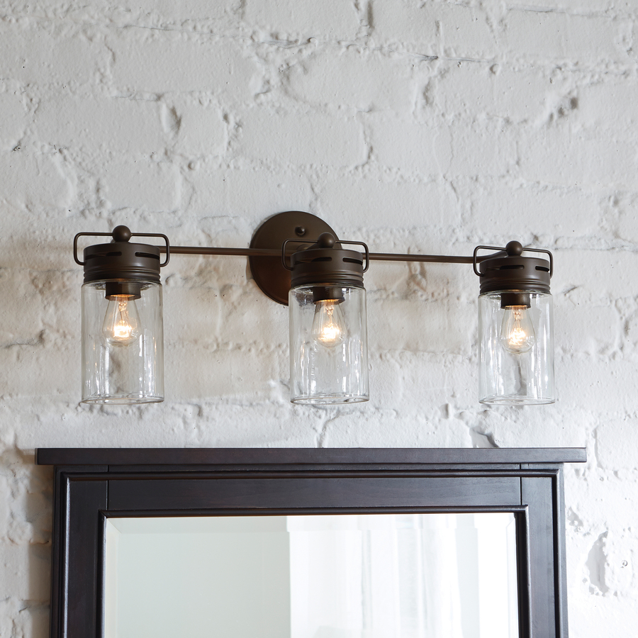 Bathroom Lighting Ideas: Mason Jar Vanity Light