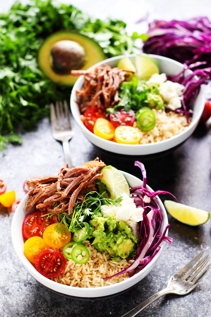 slow-cooker-steak-carnitas-bowls-with-quick-guacamole-2