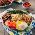 healthy bibimbap rice bowl