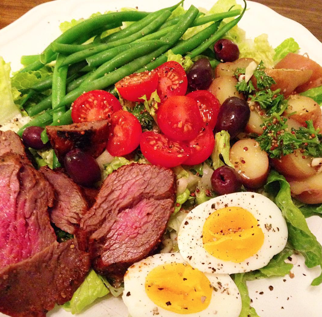 steak nicoise salad