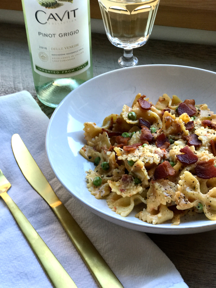garlic cream farfalle pasta recipe
