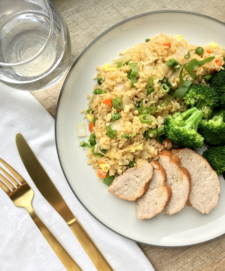 fried rice pork tenderloin