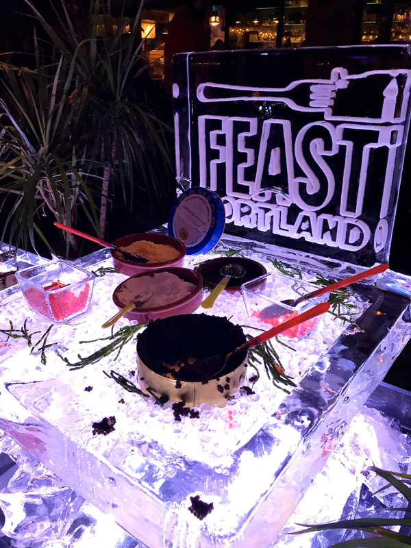 caviar bar feast