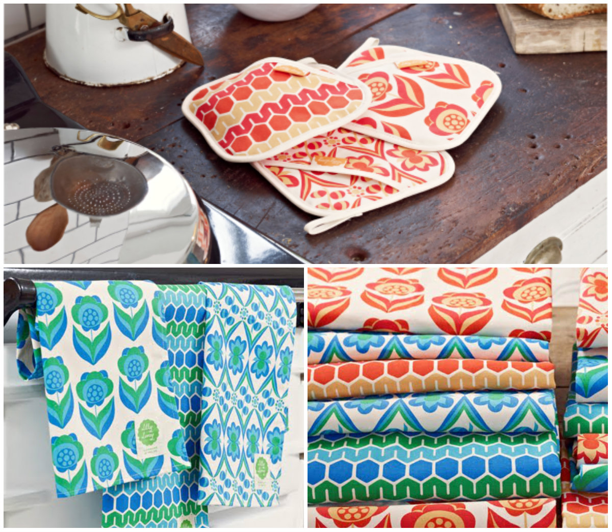 Retro Kitchen Linens: Retro-Oven-Mitts