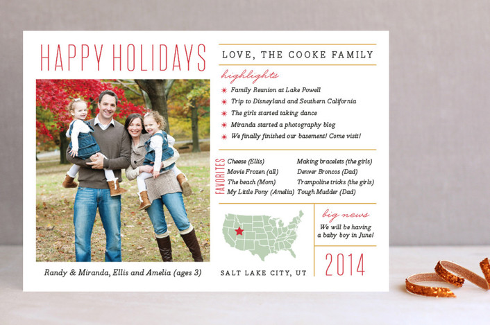 minted christmas cards - Unique Christmas Card Ideas