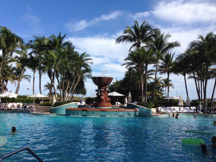 The pool at Loews South Beach